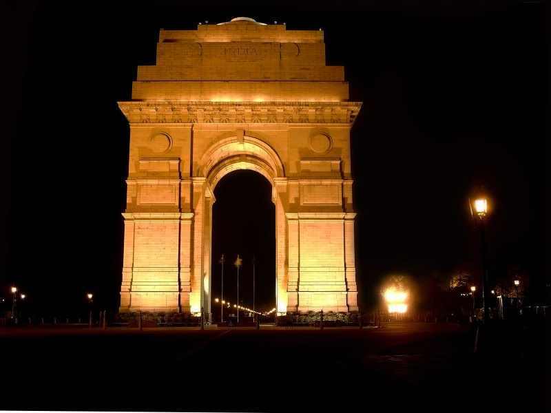India_Gate_east_face_at_night
